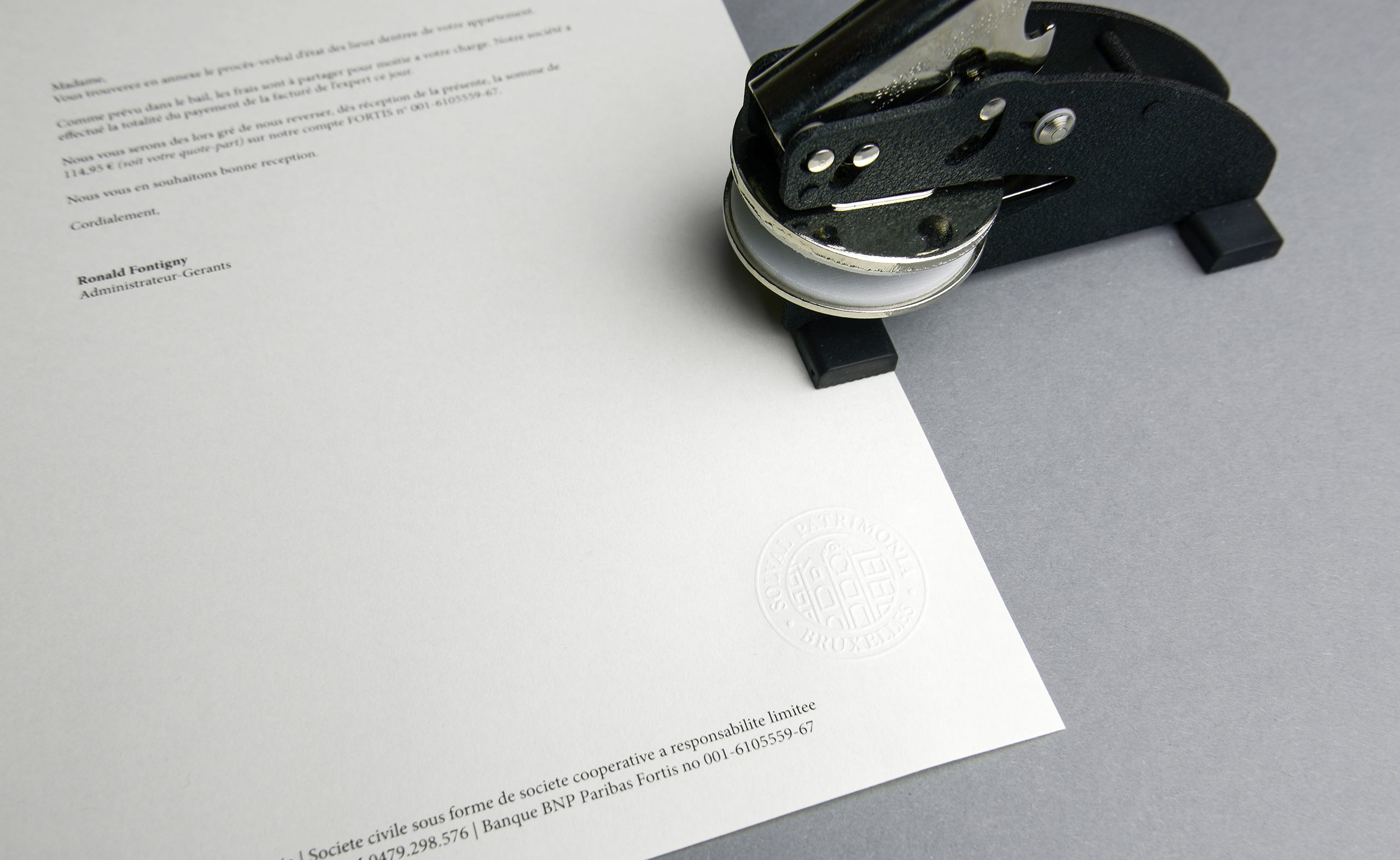 Letterpaper Stamped Embossed Seal