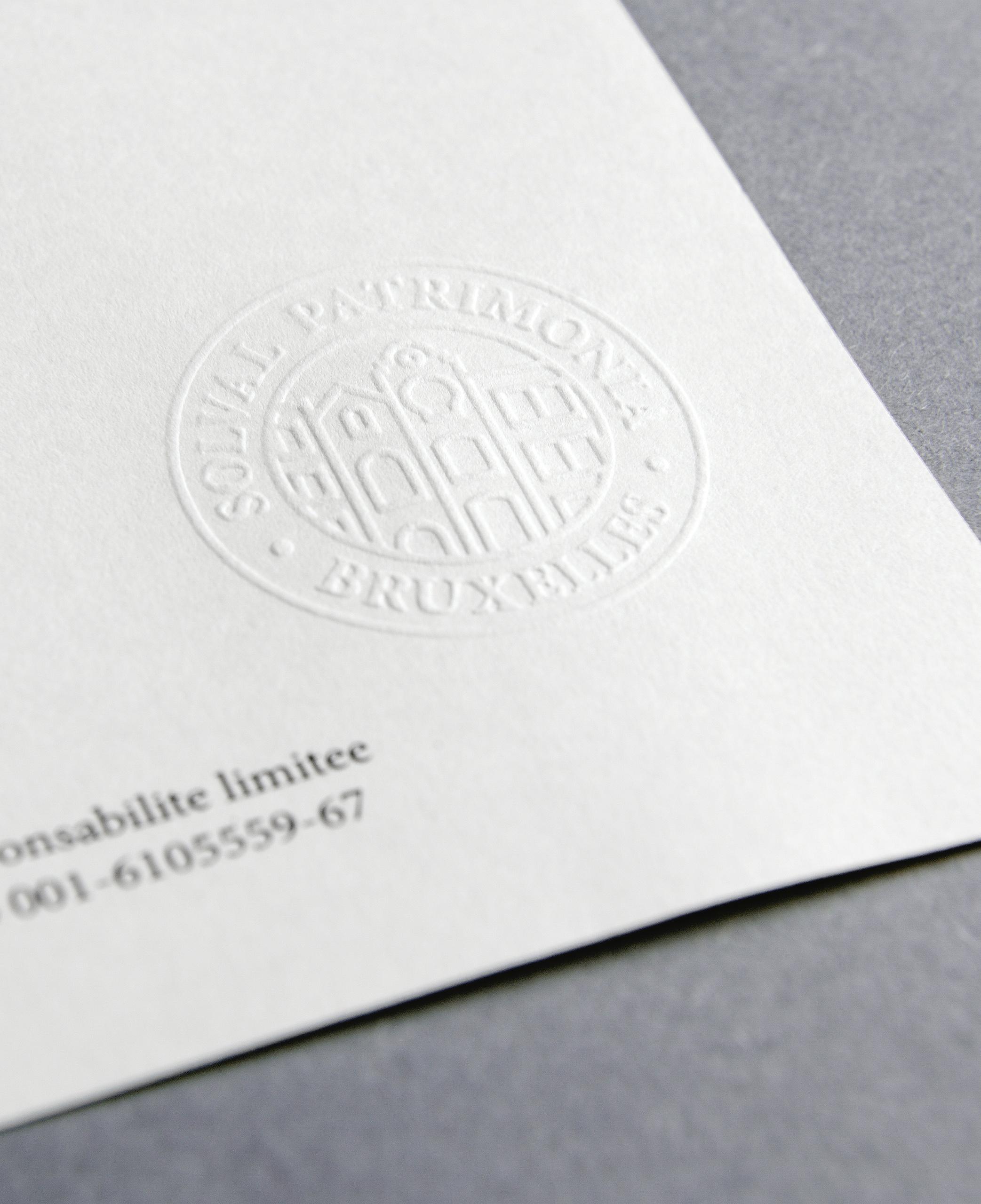 Letterpaper Stamped Embossed Seal Close Up