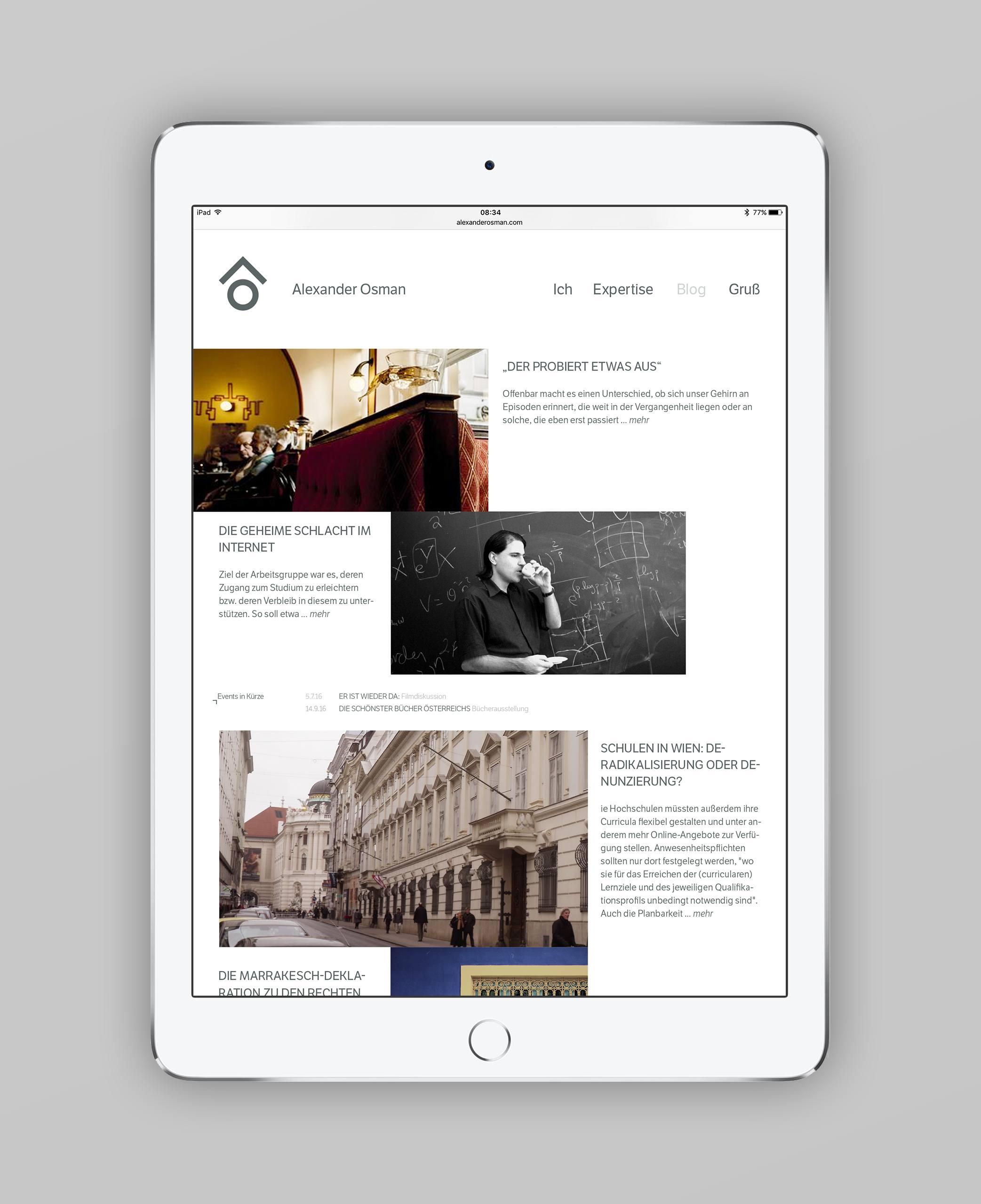 Alexander Osman Webdesign Responsive Tablet